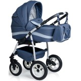 Carucior MyKids Germany 3 in 1 blue inchis