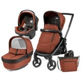 Carucior Peg Perego Black Mat Team 3 in 1 terracota