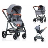 Carucior Kiddo Jazz Deluxe 3 in 1 stone brown