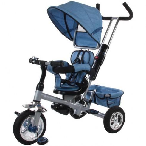 Tricicleta cu copertina si sezut reversibil Sun Baby Confort Plus melange albastru
