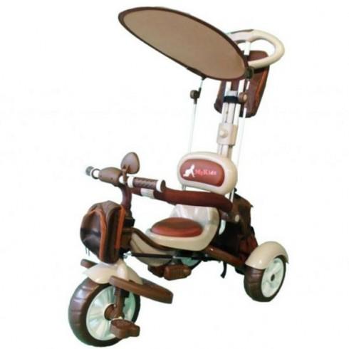 Tricicleta MyKids Happy Trip KR03B maro