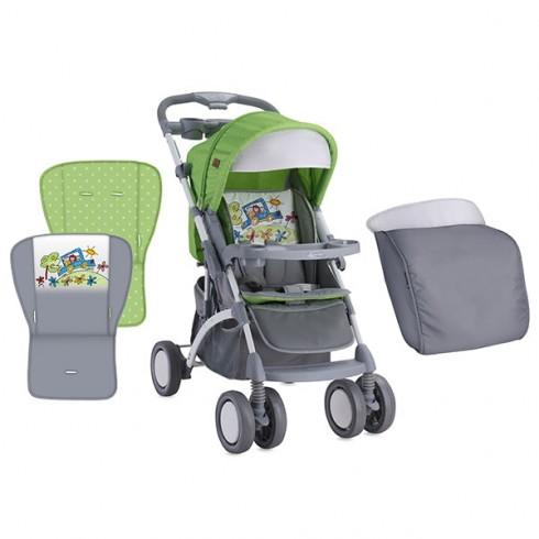 Carucior Bertoni - Lorelli Apollo green & grey car