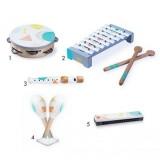 Set instrumente muzicale din lemn Ecotoys 3630