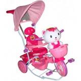 Tricicleta cu copertina Eurobaby Hq2001 roz