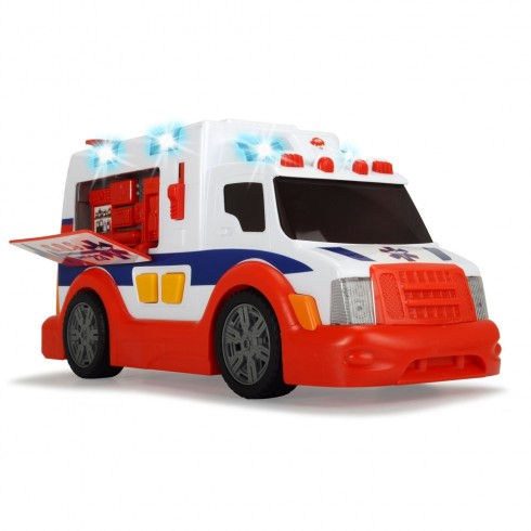 Masina ambulanta Dickie Toys Ambulance cu sunete si lumini