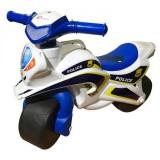 Motocicleta de impins MyKids Police Music 013951 alb albastru