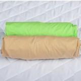 Set 2 x Cearsaf BabyNeeds cu elastic 140x70 cm Cappucino si Verde
