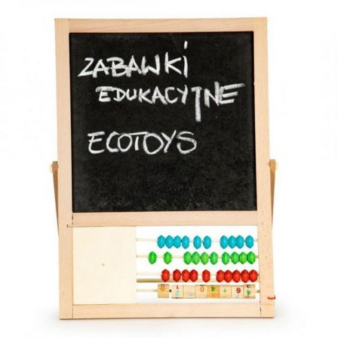 Tabla educationala Ecotoys MB385 cu abac si numere