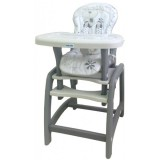 Scaun de masa Baby Mix Hello 2 in 1 grey dog