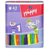 Scutece Happy 1 new born 42 buc pentru 2-5 kg