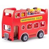 Set New Classic Toys Autobuz turistic cu 9 figurine
